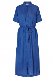 Lolly's Laundry |  Midi dress with dot print Blake | blue  | Picture 1