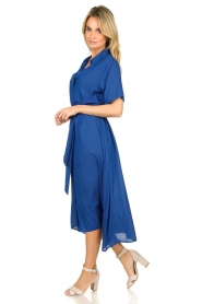 Lolly's Laundry |  Midi dress with dot print Blake | blue  | Picture 4