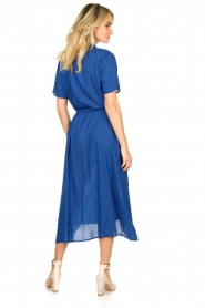 Lolly's Laundry |  Midi dress with dot print Blake | blue  | Picture 5