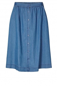 Lolly's Laundry |  Buttoned cotton skirt Marley | blue  | Picture 1