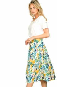 Lolly's Laundry |  Floral midi skirt Morning | white  | Picture 5