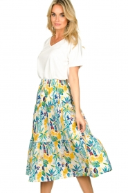 Lolly's Laundry |  Floral midi skirt Morning | white  | Picture 2