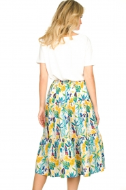 Lolly's Laundry |  Floral midi skirt Morning | white  | Picture 6