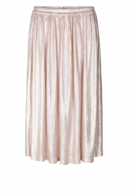 Lolly's Laundry |  Metallic pleated skirt Pauline | nude  | Picture 1