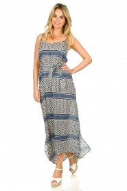 Lolly's Laundry |  Printed maxi dress Beatrice | blue  | Picture 3