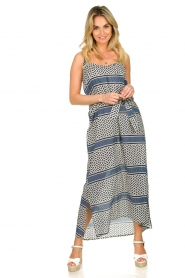 Lolly's Laundry |  Printed maxi dress Beatrice | blue  | Picture 2