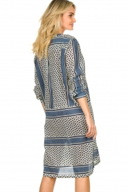 Lolly's Laundry |  Printed blouse dress Vega | blue  | Picture 6