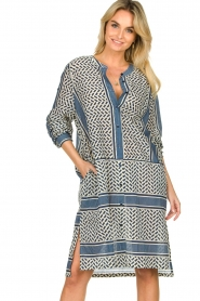 Lolly's Laundry |  Cotton print dress Vega | blue  | Picture 4