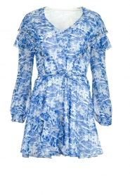Patrizia Pepe |  Dress with print Athene | blue  | Picture 1