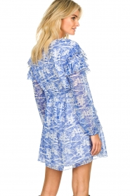 Patrizia Pepe |  Dress with print Athene | blue  | Picture 6