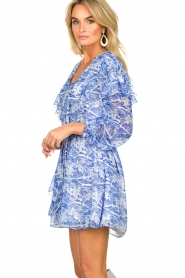 Patrizia Pepe |  Dress with print Athene | blue  | Picture 5