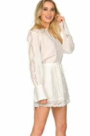 Patrizia Pepe |  Ajour dress Apollo | white  | Picture 6