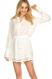 Patrizia Pepe |  Ajour dress Apollo | white  | Picture 2