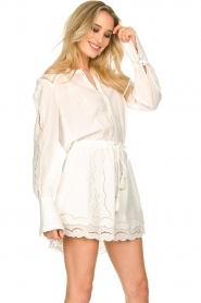 Patrizia Pepe |  Ajour dress Apollo | white  | Picture 5