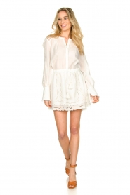 Patrizia Pepe |  Ajour dress Apollo | white  | Picture 3