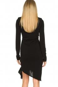 Patrizia Pepe | Little black dress Zeta | zwart   | Afbeelding 7