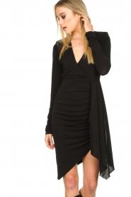 Patrizia Pepe | Little black dress Zeta | zwart   | Afbeelding 5