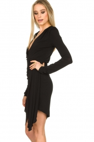 Patrizia Pepe |  Little black dress Zeta | black  | Picture 6