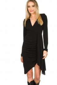 Patrizia Pepe |  Little black dress Zeta | black  | Picture 4