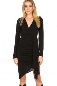 Patrizia Pepe |  Little black dress Zeta | black  | Picture 2