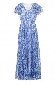 Patrizia Pepe | Maxi dress with print Antholia | blue  | Picture 1