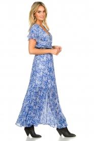 Patrizia Pepe | Maxi dress with print Antholia | blue  | Picture 5