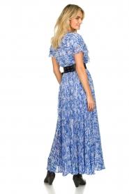 Patrizia Pepe | Maxi dress with print Antholia | blue  | Picture 7