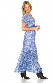 Patrizia Pepe | Maxi dress with print Antholia | blue  | Picture 6