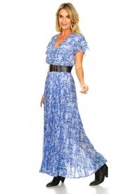 Patrizia Pepe | Maxi dress with print Antholia | blue  | Picture 3