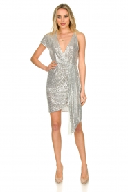Patrizia Pepe |  Sequin dress Yule | silver  | Picture 3