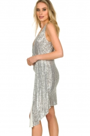 Patrizia Pepe |  Sequin dress Yule | silver  | Picture 5