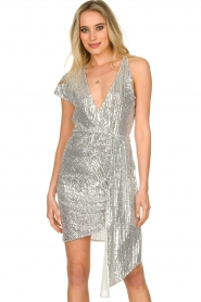 Patrizia Pepe |  Sequin dress Yule | silver  | Picture 2