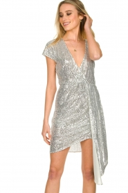 Patrizia Pepe |  Sequin dress Yule | silver  | Picture 4
