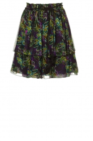 Patrizia Pepe |  Skirt with floral print Maia | black  | Picture 1