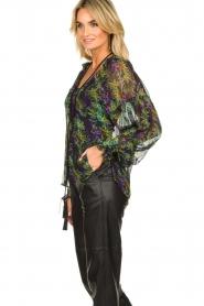 Patrizia Pepe |  Blouse with floral print Iris | black  | Picture 5