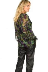 Patrizia Pepe |  Blouse with floral print Iris | black  | Picture 6