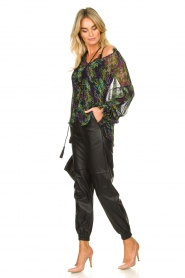 Patrizia Pepe |  Blouse with floral print Iris | black  | Picture 3