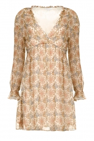 Patrizia Pepe | Dress with print Aeuthalia | brown  | Picture 1