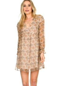 Patrizia Pepe | Dress with print Aeuthalia | brown  | Picture 4