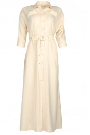 Patrizia Pepe |  Buttoned maxi dress Safari | off-white  | Picture 1