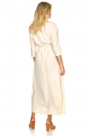 Patrizia Pepe |  Buttoned maxi dress Safari | off-white  | Picture 6