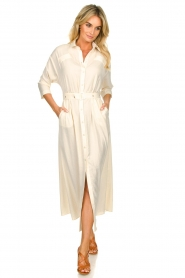 Patrizia Pepe |  Buttoned maxi dress Safari | off-white  | Picture 2