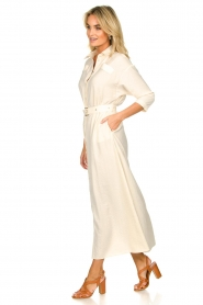 Patrizia Pepe |  Buttoned maxi dress Safari | off-white  | Picture 4