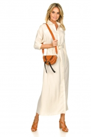 Patrizia Pepe |  Buttoned maxi dress Safari | off-white  | Picture 3