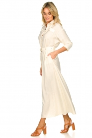 Patrizia Pepe |  Buttoned maxi dress Safari | off-white  | Picture 5