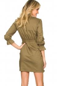 Patrizia Pepe |  Popline wrap dress Ricky | green  | Picture 5