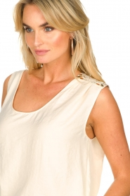 Patrizia Pepe |  Top with decoration Nikki | natural  | Picture 6
