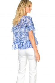 Patrizia Pepe |  Blouse with print Caesar | blue  | Picture 6