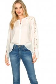 Patrizia Pepe |  Ajour blouse Mila | White   | Picture 4
