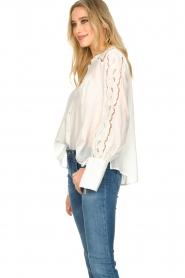Patrizia Pepe |  Ajour blouse Mila | White   | Picture 5